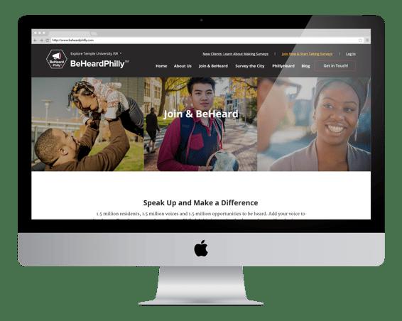 beheardphilly website on desktop
