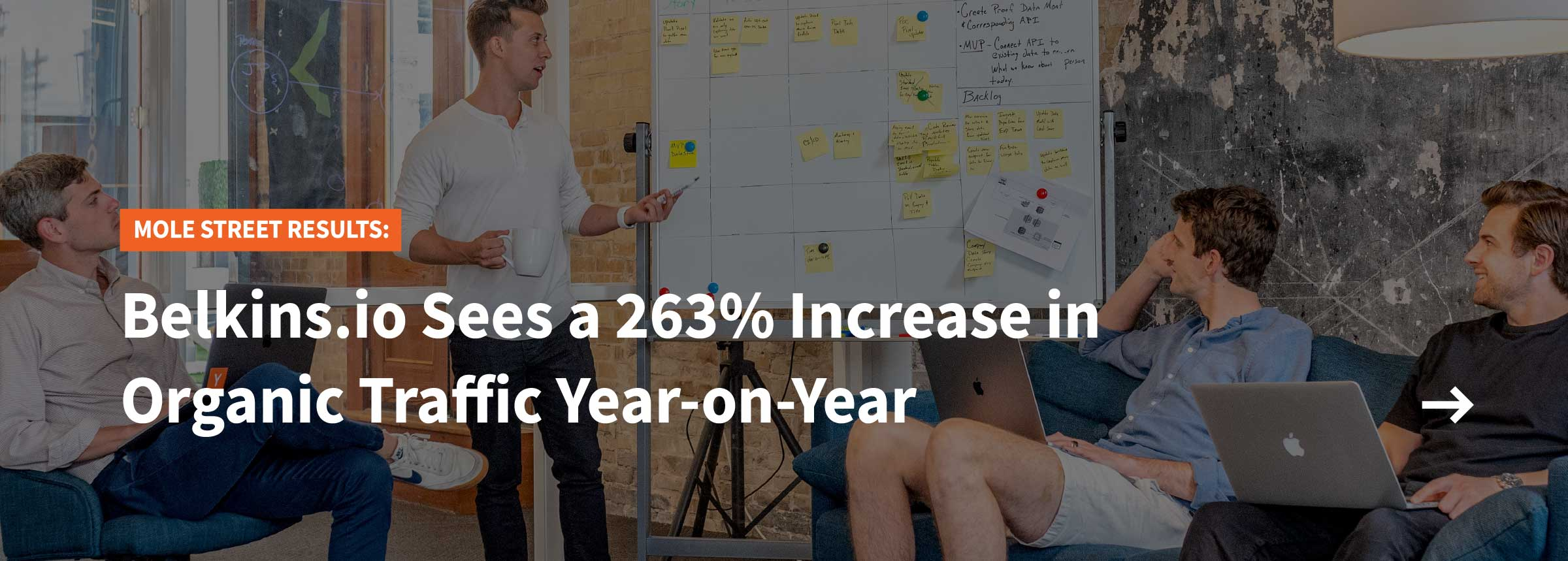 Learn how Mole Street Agency, a Diamond HubSpot Partner, helped a company realize a 263% increase in organic traffic year over year.