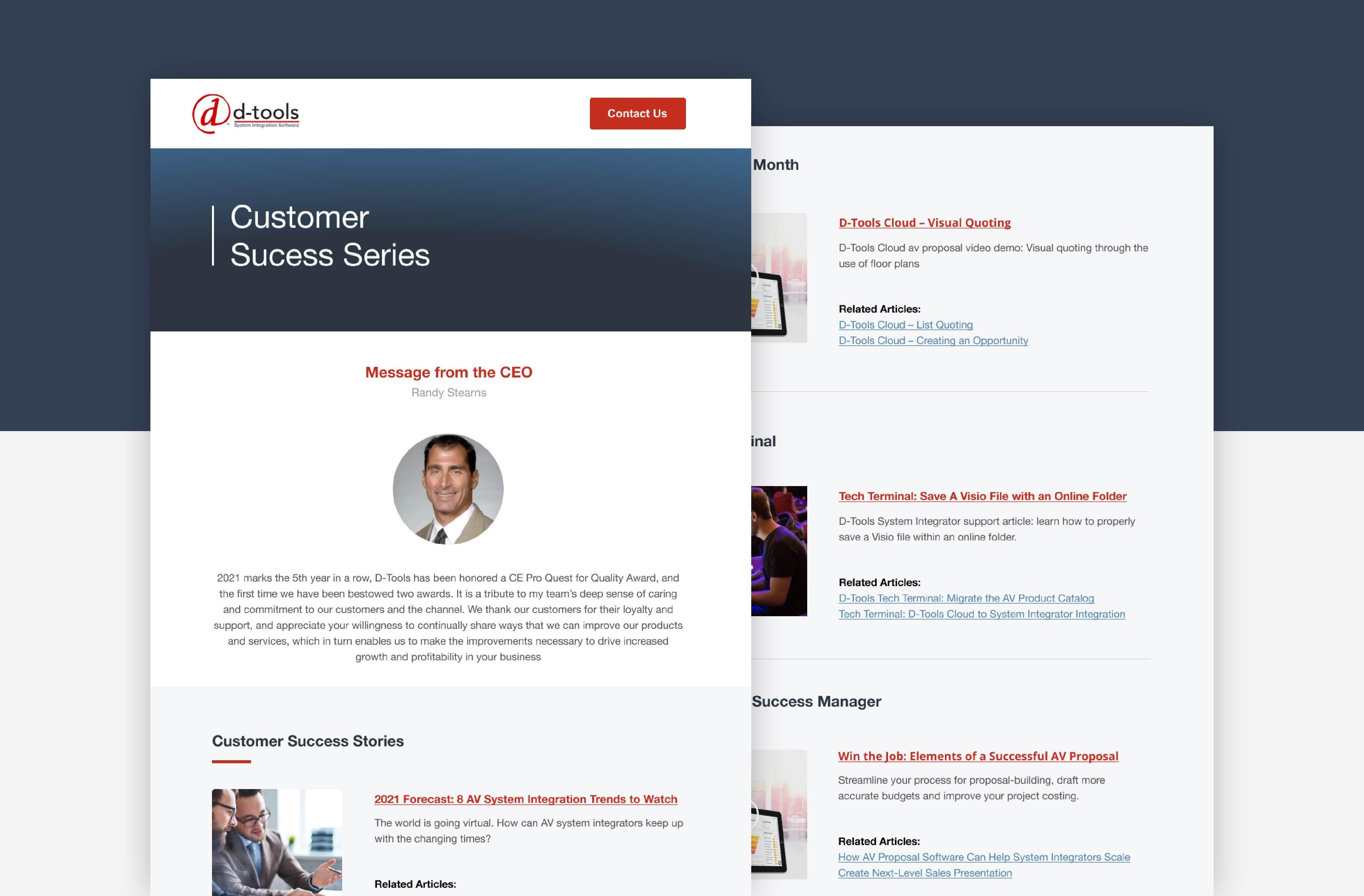 HubSpot Email Newsletter Design