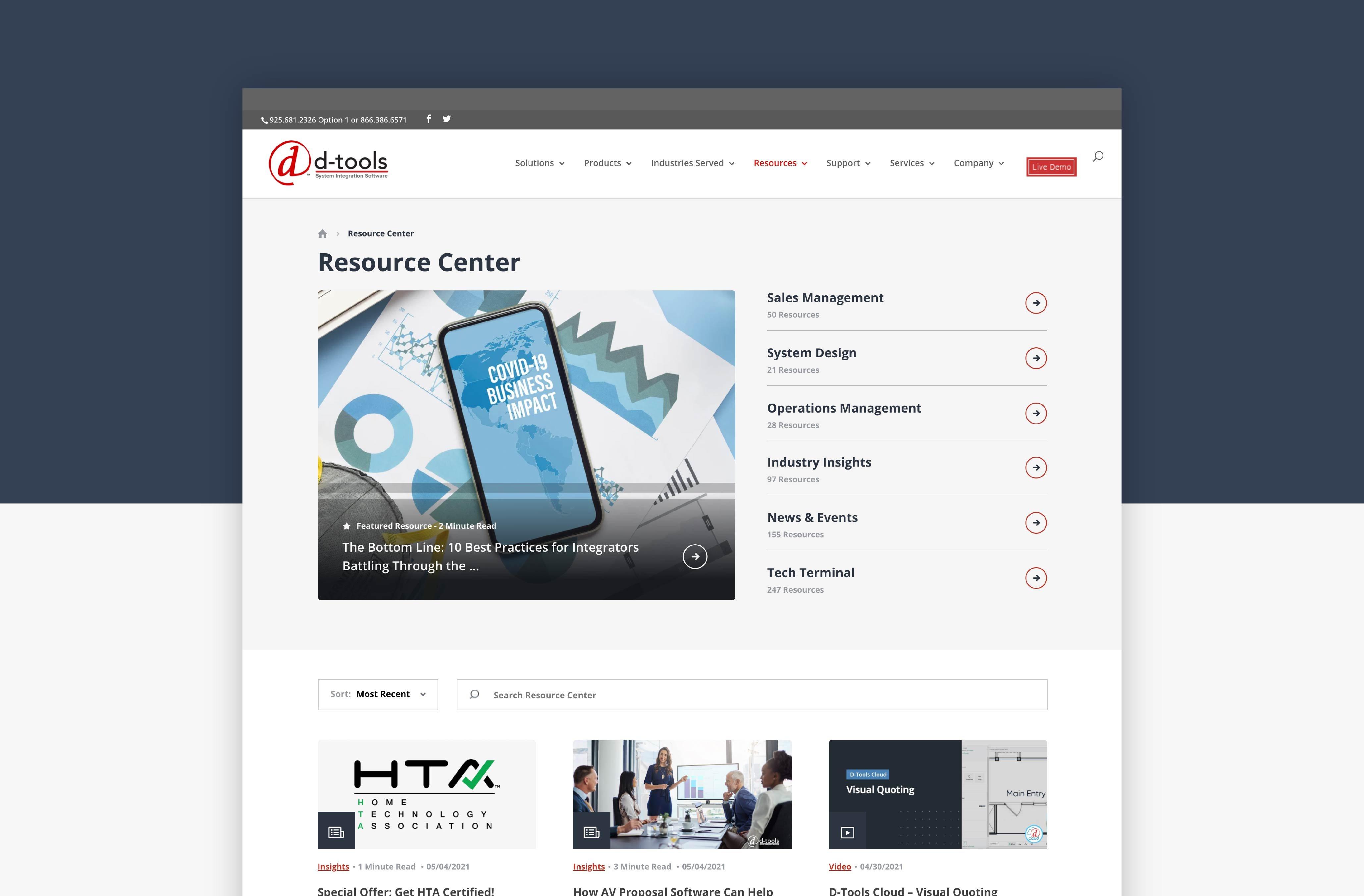HubSpot Website Design - Resource Center