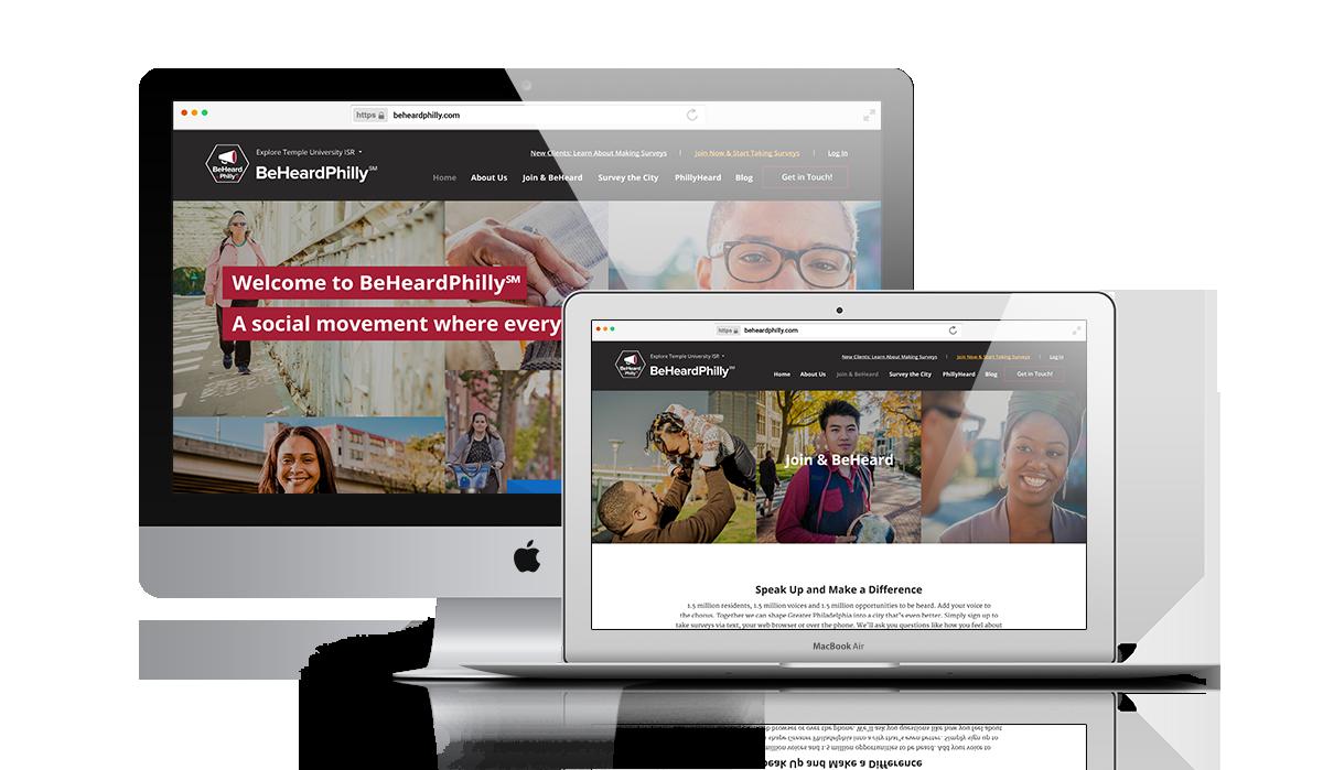 BeHeardPhilly | Website Design by Mole Street