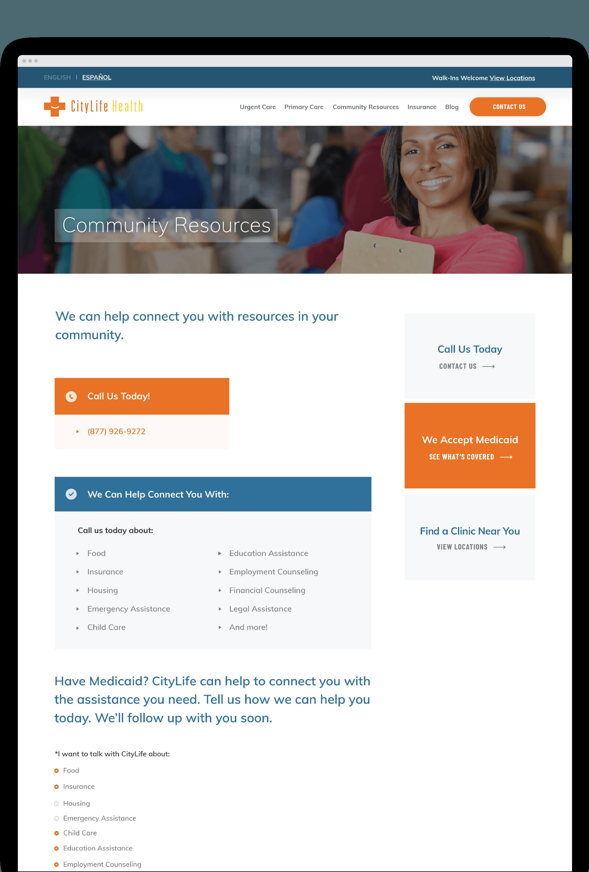 CityLife Health website